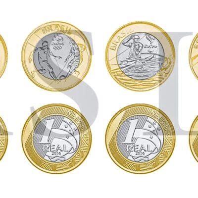2016 Set de 16 Monedas de los Juegos Olímpicos de rio de Janeiro Brasil