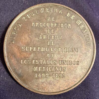 Medalla.1892.Mexico