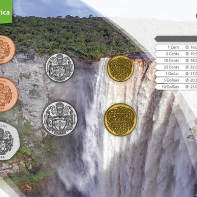 Set de Monedas de Guyana