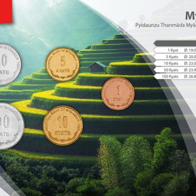 Set de Monedas de Myanmar