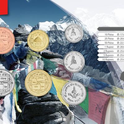 Set de Monedas de Nepal