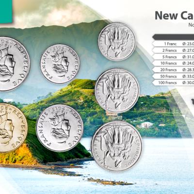 Set de Monedas de Nueva Caledonia