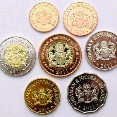 Set de 7 Monedas de Andaman & Nicobar Islands.