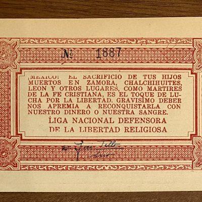 Jalisco.5Pesos.Cristero
