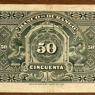 Durango.50Pesos.1913