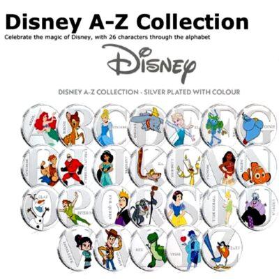 Medalla original de Disney con la letra U