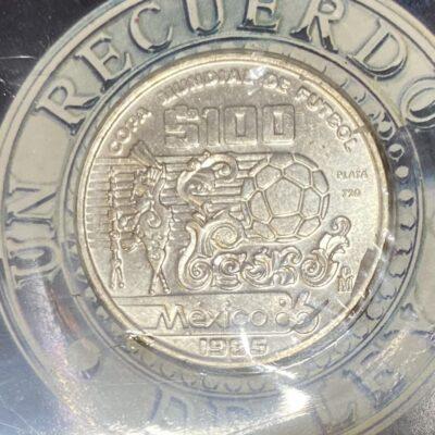 Mexico.100,50,25Pesos.1986